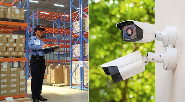 Nên lắp camera hay thuê bảo vệ nhà kho, nhà xưởng?